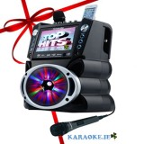 Karaoke Player with Full Colour Screen & Bluetooth, Bigger Amp & LED Lights
